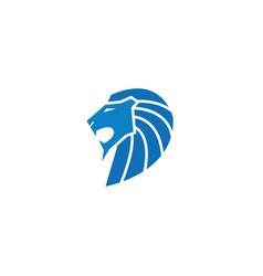 lion logo blue vector image