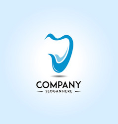 logo template for dental clinic or health company vector image
