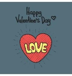 Love cartoon explosion Heart typography vector