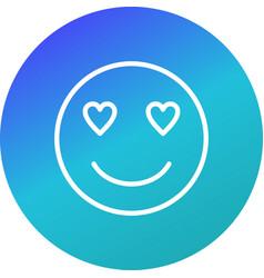 Love emoji icon vector