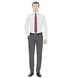 Man in tie vector