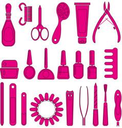 Manicure nail file nail polish icon vector