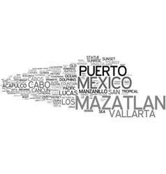 mazatlan word cloud concept vector image
