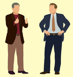 middle aged men posing vector image