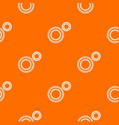 Mildew virus pattern orange vector