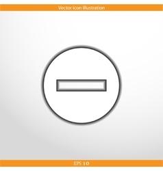 minus web flat icon vector image