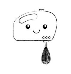 Mixer electric kawaii character vector