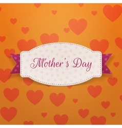 Mothers day paper banner template and pink ribbon vector