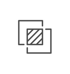 overlay effect line icon vector image