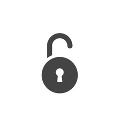 padlock icon graphic design template vector image