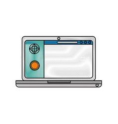 Pc laptop business vector