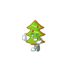 Picture trees cookies making thumbs up gesture vector