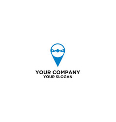 pin steering wheel logo design vector image