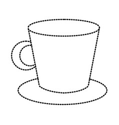 porcelain mug isolated vector image