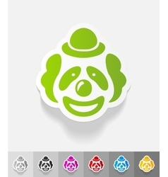 realistic design element clown vector image