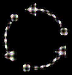 Rotate halftone collage of circles vector