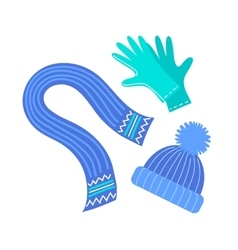 Scarf hat and gloves vector