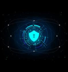 shield on futuristic background vector image