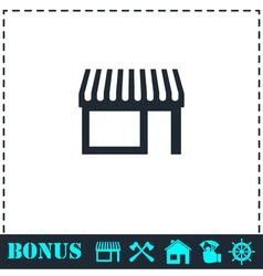 Showcase icon flat vector