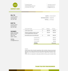 Simple invoice template vector