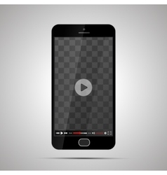 Smartphone with transparent place for video player vector