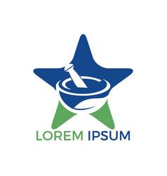Star pharmacy medical logo design vector