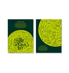 Stpatrick s day greeting and invitation cards vector
