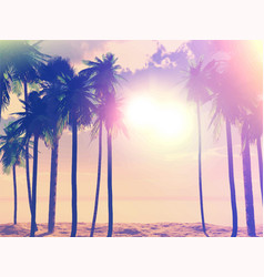 Summer retro palm trees 1405 vector