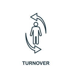 Turnover line icon thin style element from vector