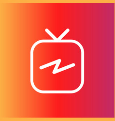 tv icon tv in flat style tv on blank background vector image