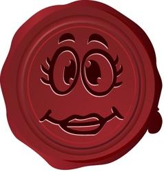 Wax seal Smiley 5 vector