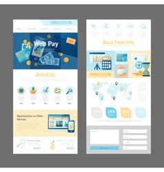 Website Design Page Template vector