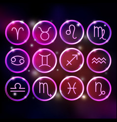 Zodiac signs collection round horoscope symbols vector