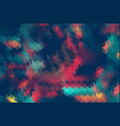 Abstract triangle retrocolor geometric background vector