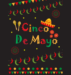 Cinco de mayo greeting card template for flyer vector
