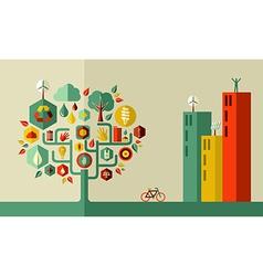 Green city concept vector image vector image