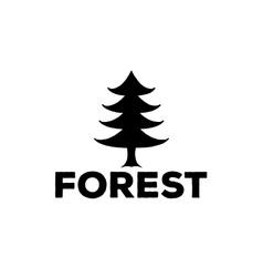 logo or emblem of a black fir-tree vector image vector image