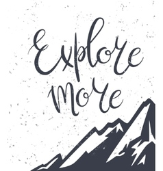 Vintage mountains exploration poster vector