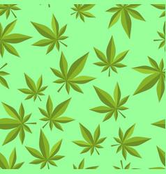 cannabis seamless pattern marijuana texture ganja vector image