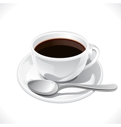 Coffee cup isolated on white background vector image vector image