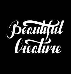 inspirational quote beautiful creature vector image