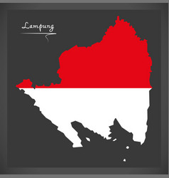 lampung indonesia map with indonesian national vector image vector image