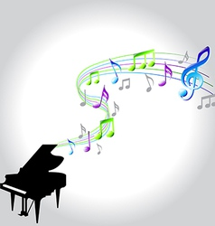 note piano vector image vector image