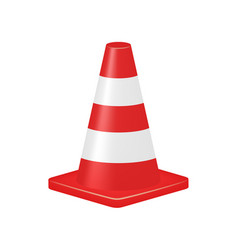 red traffic cone vector image