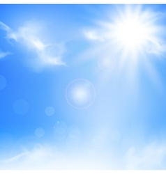 sky and sun vector image vector image