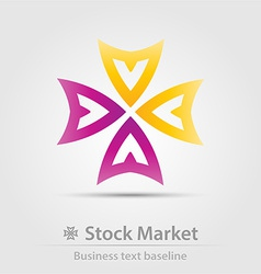 Stock market business icon vector image vector image
