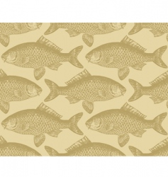 vintage fish pattern vector image vector image