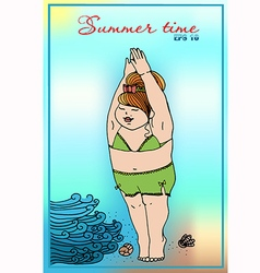a girl in a bathing suit vector image vector image