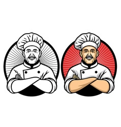 chef crossing arm pose vector image vector image