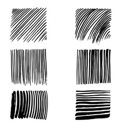 doodles set of strokes vector image